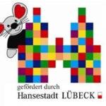 Logo: gefördert durch Hansestadt Lübeck